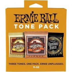 Ernie Ball Light Tone Pack 11-52 комплект струн для акустической гитары