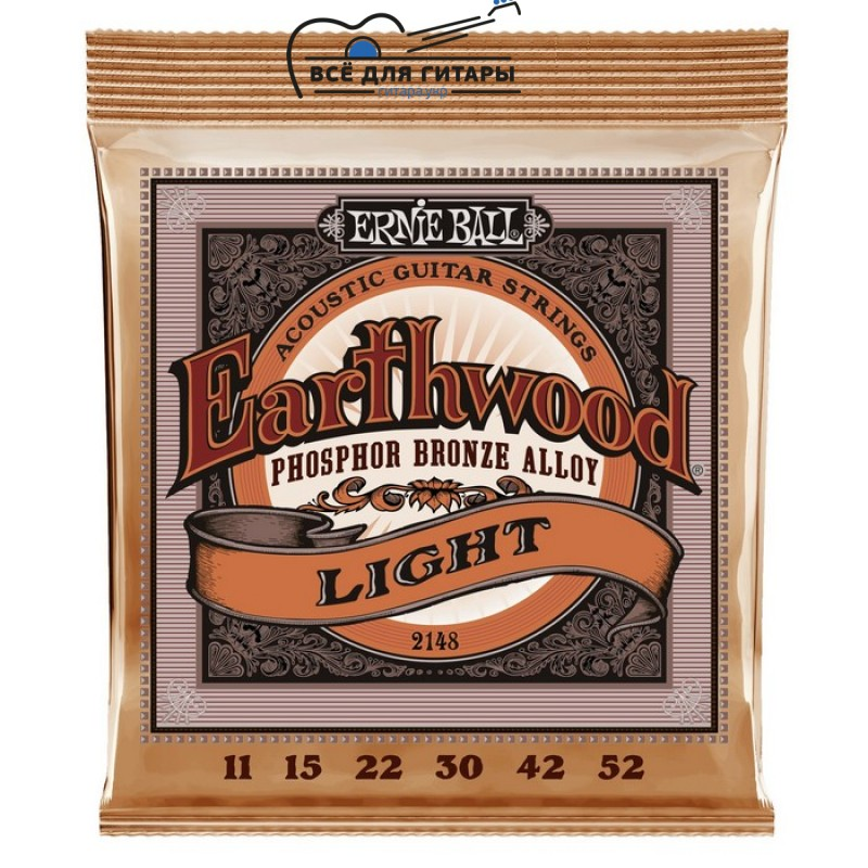 Ernie Ball 2148 Earthwood Phosphor Bronze Light