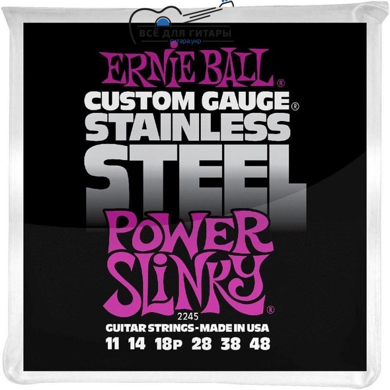 Ernie Ball 2245 Stainless Steel 11-48 Power Slinky