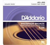 DAddario EJ26 Phosphor Bronze Custom Light (011-052)