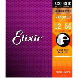 Elixir Nanoweb 16077 Phosphor Bronze (012-056)