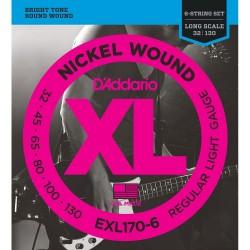DAddario EXL170-6 XL 32-130 Regular Light 6-String