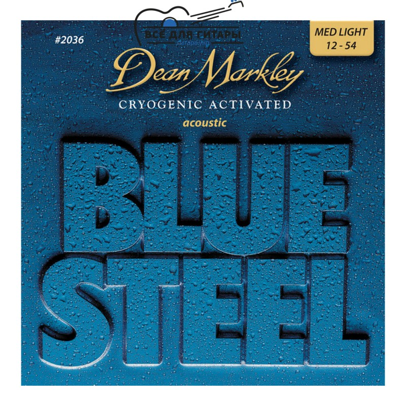 Dean Markley 2036 Blue Steel Acoustic 12-54 Medium Light