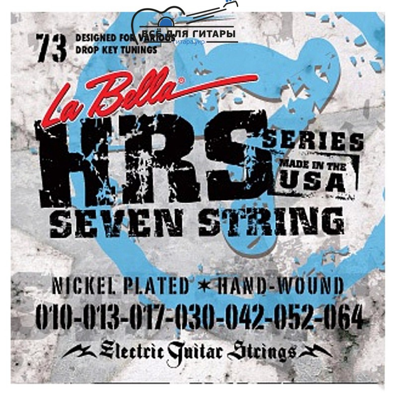 La Bella HRS-73 7-string 10-64
