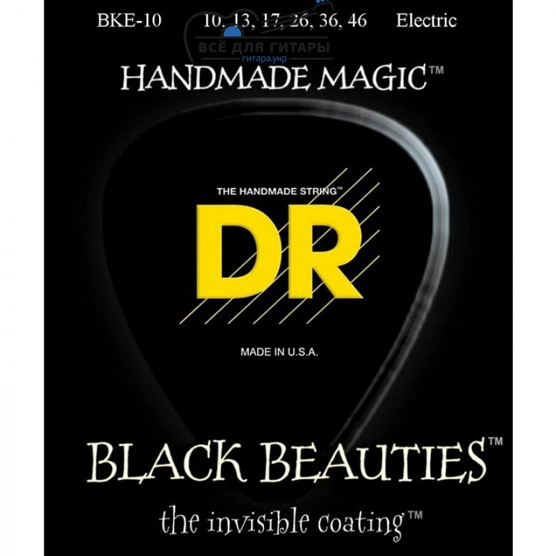 DR Strings Extra Life BKE-10 Black Beauties Medium 10-46