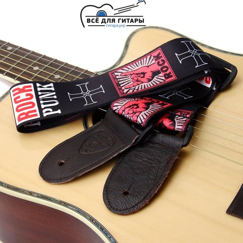 Ремень для гитары с надписью