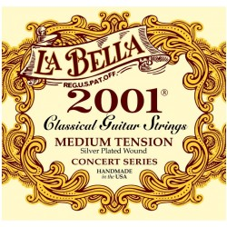 La Bella 2001-M Concert Series Silver Plated Medium Tension