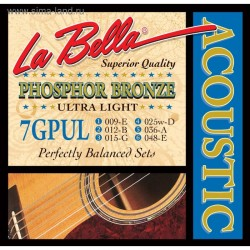 La Bella 7GPUL Phosphor Bronze Acoustic 9-48 Ultra Light
