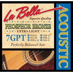 La Bella 7GPT Phosphor Bronze Acoustic 10-50 Extra Light