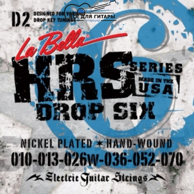 La Bella HRS-D2 10-70 Drop Tune
