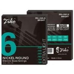 Струны для бас-гитары Ziko DN-045-6
