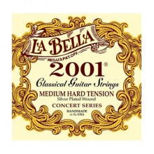 La Bella 2001-MH Concert Series Silver Plated Medium Hard Tension