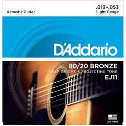D'Addario EJ11 Bronze Light