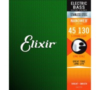 Elixir 14777 NANOWEB Stainless Steel Bass 45-130 5-string