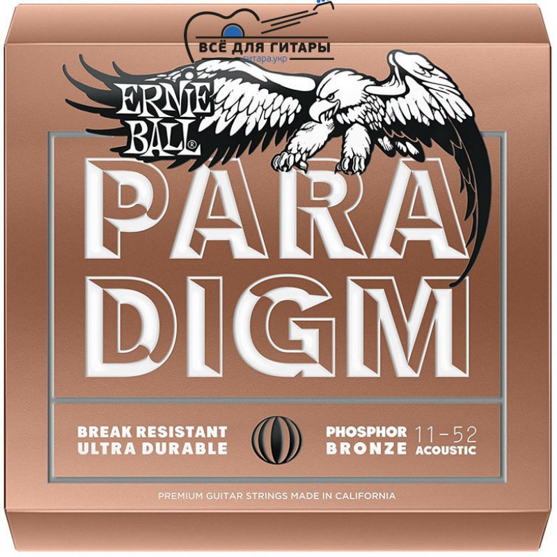 Ernie Ball 2078 Paradigm Phosphor Bronze 11-52 Light