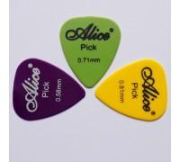 Набор медиаторов Alice разной толщины (0.58-0.81 мм) 3 шт.