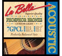 La Bella 7GPCL Phosphor Bronze Acoustic 11-52 Custom Light