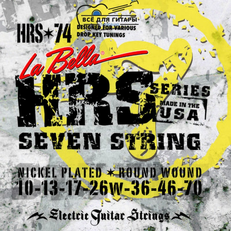 La Bella HRS-74 7-string 10-70