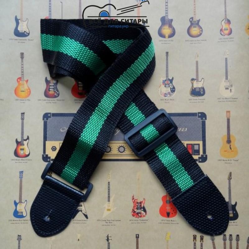 гитарный ремень с цветной полосой