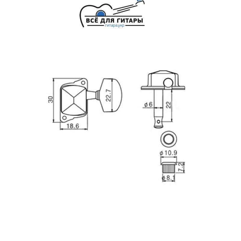 Комплект колков Metallor J-21-CR для акустической гитары (6 шт)