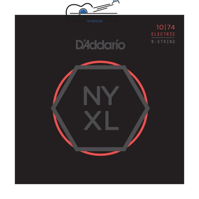 DAddario NYXL1074 NYXL 8-string 10-74 Light Top / Heavy Bottom