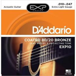 DAddario EXP10 Coated 80/20 Bronze 10-47 Extra Light