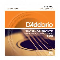 DAddario EJ15 Phosphor Bronze Extra Light (010-047)