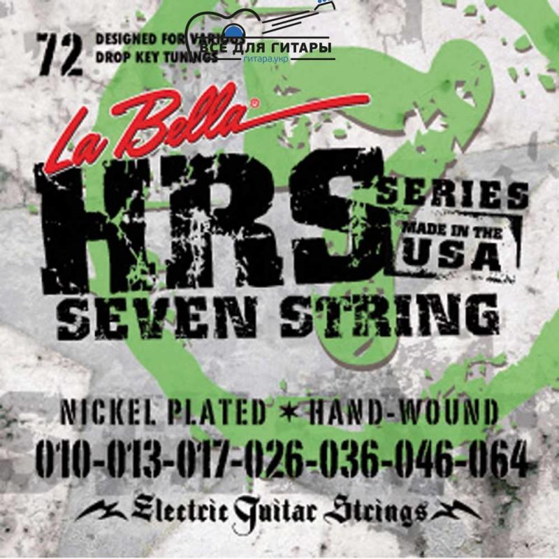La Bella HRS-72 7-string 10-64