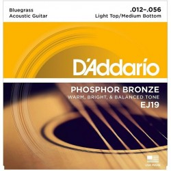 DAddario EJ19 Phosphor Bronze Bluegrass Medium Light (012-056)