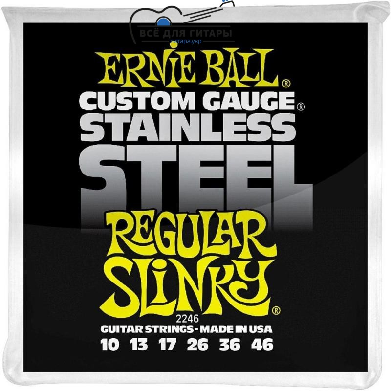 Ernie Ball 2246 Stainless Steel 10-46 Regular Slinky