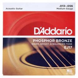 DAddario EJ17 Phosphor Bronze 13-56 Medium