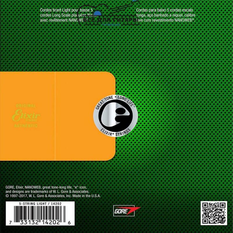 Elixir 14202 NANOWEB Bass 45-130 5-string
