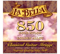 La Bella 850 Elite Gold Nylon, Golden Alloy Medium Tension