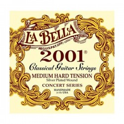 La Bella 2001-MH Concert Series Silver Plated Medium Hard Tension
