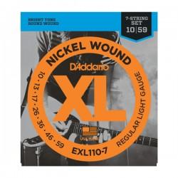 DAddario EXL110-7 XL 7-string 10-59 Regular Light