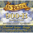 La Bella 900-B Elite Black Nylon, Polished Golden Alloy Medium Tension