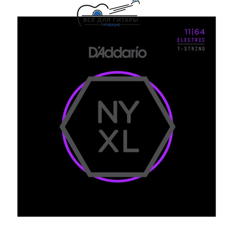 DAddario NYXL1164 NYXL 7-string 11-64 Medium