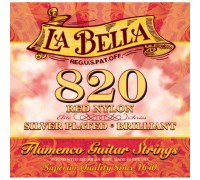 La Bella 820 Elite Flamenco Red Nylon, Silver Plated Medium Tension