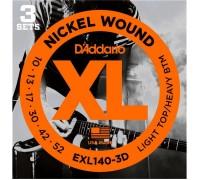 DAddario EXL140-3D XL 10-52 Lt Top / Heavy Btm (3-pack)