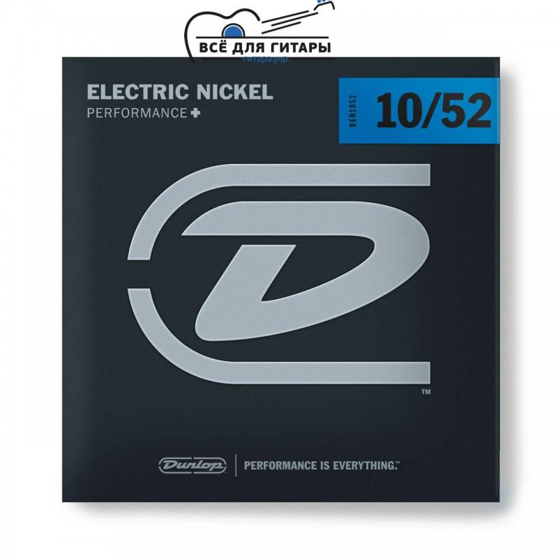 Dunlop DEN1052 Electric Nickel 10-52 Light Top Heavy Bottom