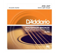 DAddario EJ15 Phosphor Bronze Extra Light (010-047)