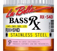 La Bella RX-S4D Rx Stainless Steel 45-105 4-String Bass