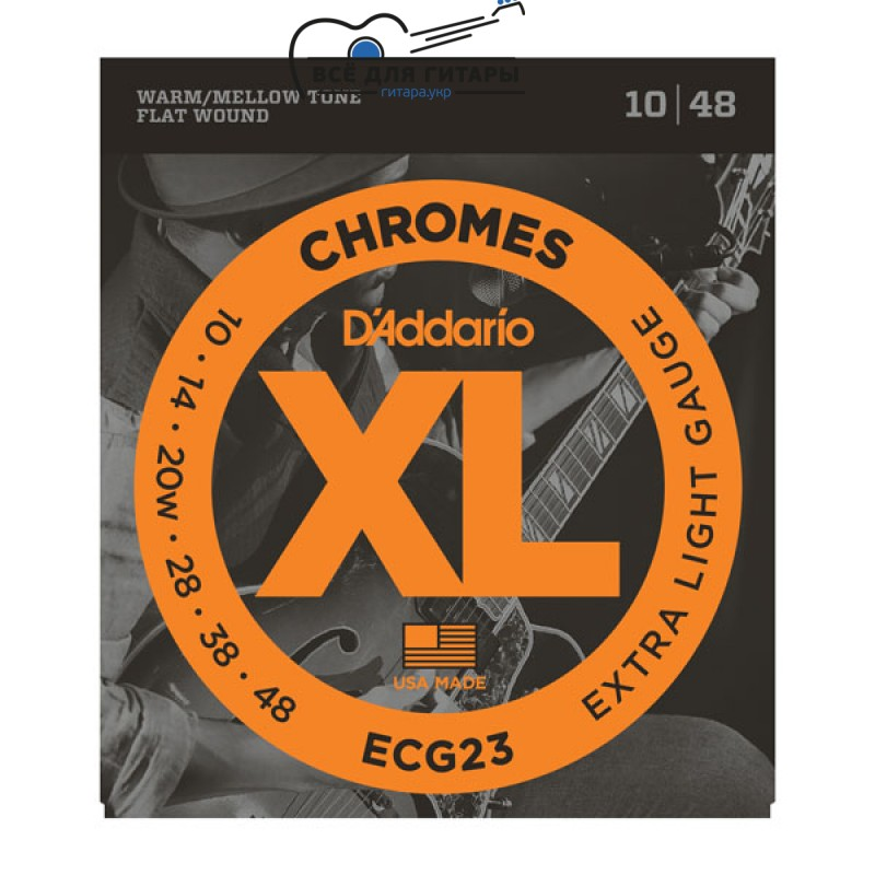 DAddario ECG23 XL Chromes 10-48 Extra Light