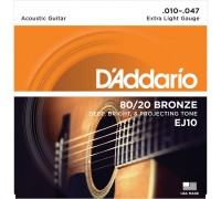 DAddario EJ10 Bronze Extra Light (010-047)