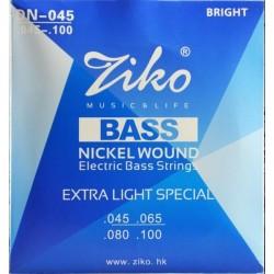 Струны для бас-гитары Ziko DN-045
