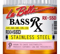 La Bella RX-S5D Rx Stainless Steel 45-130 5-String Bass