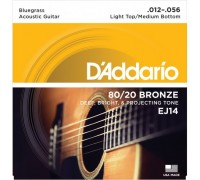DAddario EJ14 Bluegrass Medium Light (012-056)