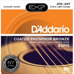 DAddario EXP15 Coated Phosphor Bronze 10-47 Extra Light
