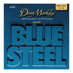 Dean Markley 2036 Blue Steel Acoustic 12-54 Medium Light
